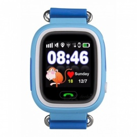 "LANGMAO 1.22"" Touch Screen GPS Tracker Smart Watch for Children - Blue"