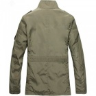 Multi-Purpose Outdoor Leisure Men Slim Windbreaker - Khaki (L)