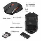 6 Key 2.4GHz Wireless 800/1200/2000DPI Optical Mouse - Black + Red