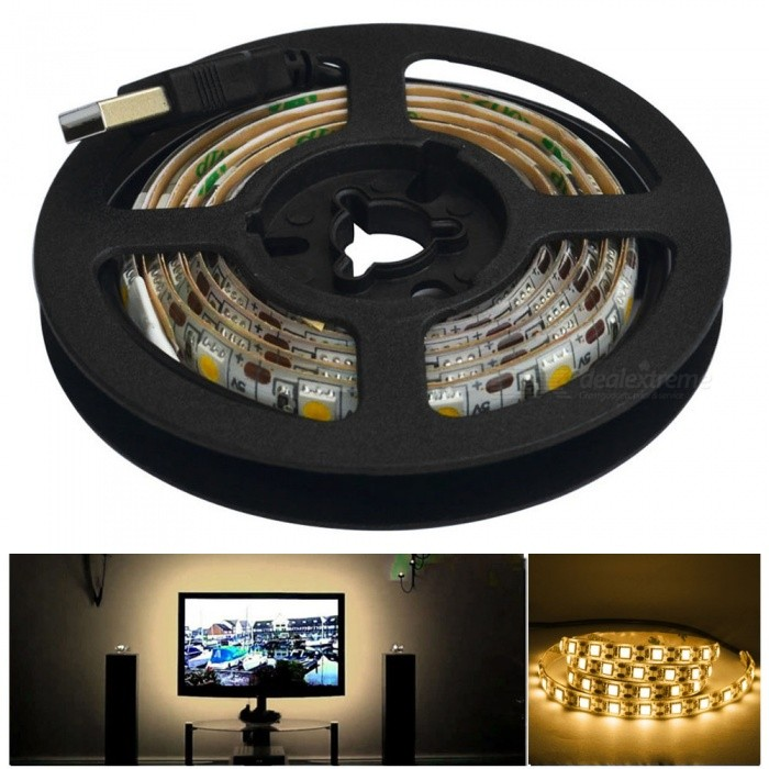 JIAWEN Waterproof 5050 SMD Warm White LED Strip Light (1m)5050 SMD Strips<br>Form ColorWhiteColor BINWarm WhiteMaterialPCB + SiliconeQuantity1 DX.PCM.Model.AttributeModel.UnitPower12WRated VoltageOthers,DC 5 DX.PCM.Model.AttributeModel.UnitChip BrandCreeEmitter Type5050 SMD LEDTotal Emitters60Color Temperature3000-3200KWavelengthotherActual Lumens480-600 DX.PCM.Model.AttributeModel.UnitPower AdapterUSBPacking List1 * LED Strip Light<br>