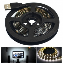 Waterproof Superbright 1m 5050-SMD LED Strip Light w/ USB Cable (DC5V)