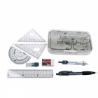 ACS90809 8 in 1 Compasses + Pencil + Eraser Geometry Kit - Grey