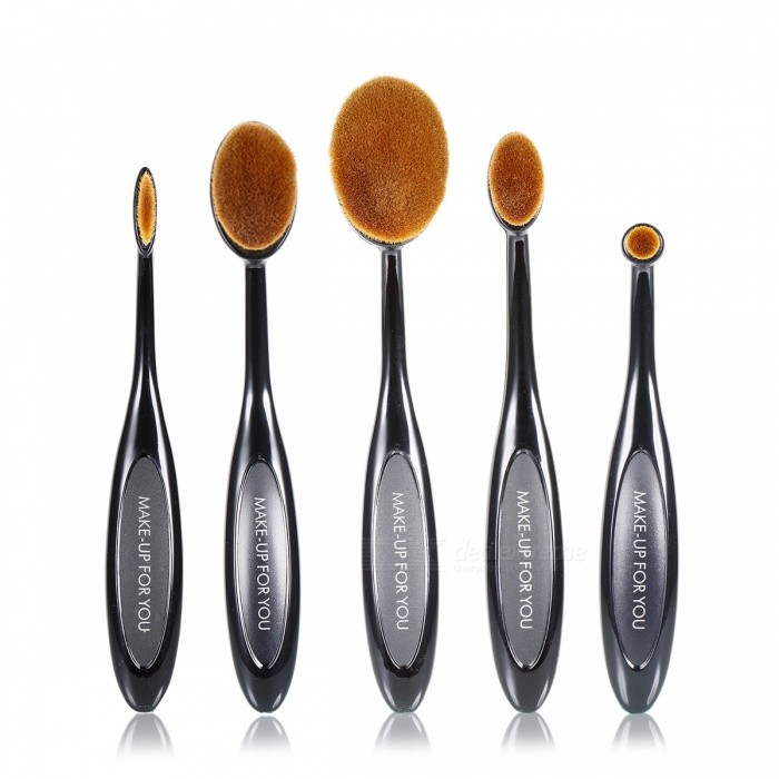 MAKE- UP FOR YOU S0503 5-Piece Fiber Makeup Brush Set - Black