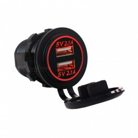 Eastor 4.2A (2.1A + 2.1A) Dual USB Ports Car Charger - Red Light