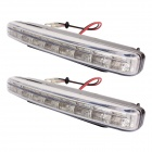 Universal Waterproof White 8-LED 120-Lumen Daytime Running Fog Lights for Car (Pair)