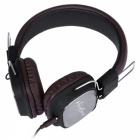 REMAX RM-100H 3.5mm Plug HiFi Wired Headset w/ Mic - Brown