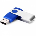 MAIKOUO MK2015 8GB Creative Rotary Metal Silicone USB Drive - Blue