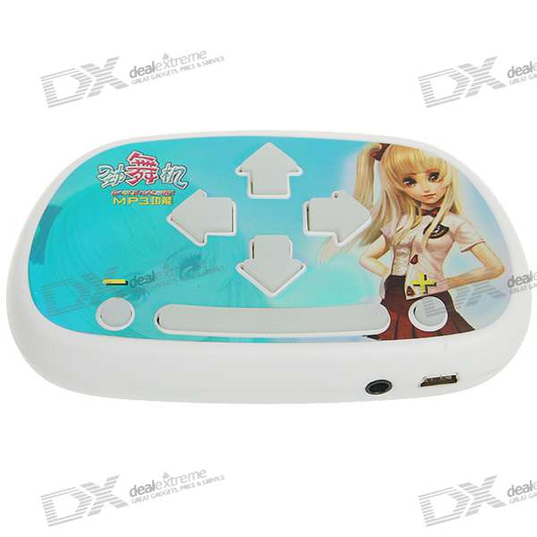 3D Stereo Portable MP3 Dance Machine/Pad - Blue + White (3*AAA)