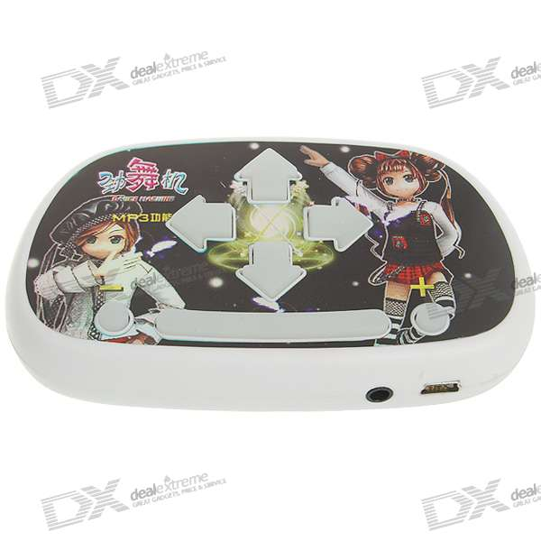 3D Stereo Portable MP3 Dance Machine/Pad - Black + White (3*AAA)