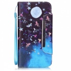 BLCR 3D Moon Pattern Protective Leather Wallet Case for IPHONE 6 / 6S