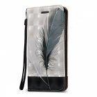 3D Embossed Feathers Pattern Magnetic Case for Samsung Galaxy S7