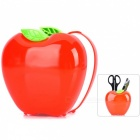 Fashionable Apple Shape Pen Container Holder - Red