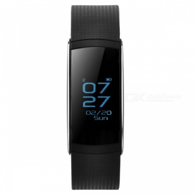 I6 Pro Bluetooth Smart Bracelet w/ Heart Rate Monitor - Black