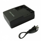LC-E6E Battery Charger + US Charger Cable for Canon LPE6 7D - Black