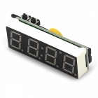 3-in-1 Time & Temperature & Voltage LED Display Module - White + Black