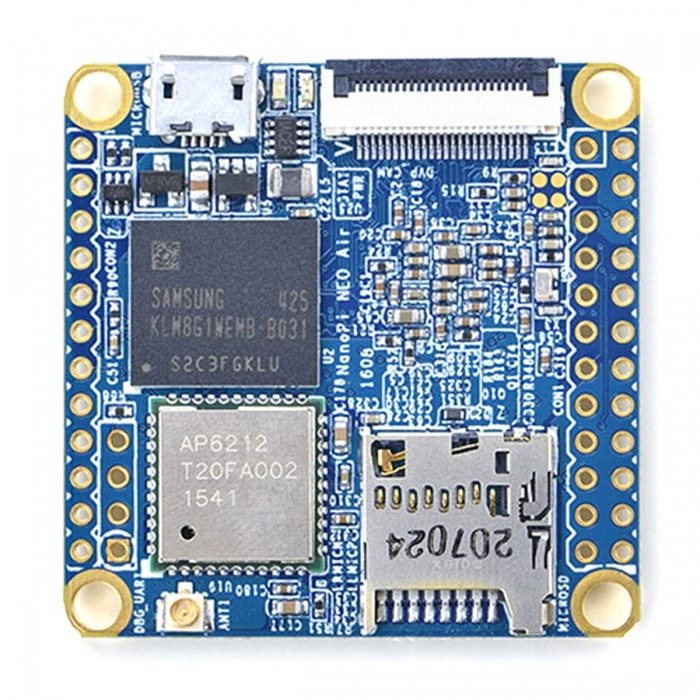 Wi-Fi 512MB DDR3 8GB eMMC Development Board for NanoPi NEO Air - BlueBoards &amp; Shields<br>Form ColorBlueModelNanoPi NEO AirQuantity1 DX.PCM.Model.AttributeModel.UnitMaterialRF4ChipsetAllwinner H3English Manual / SpecNoDownload Link   http://wiki.friendlyarm.com/wiki/index.php/NanoPi_NEO_AirPacking List1 * Board<br>