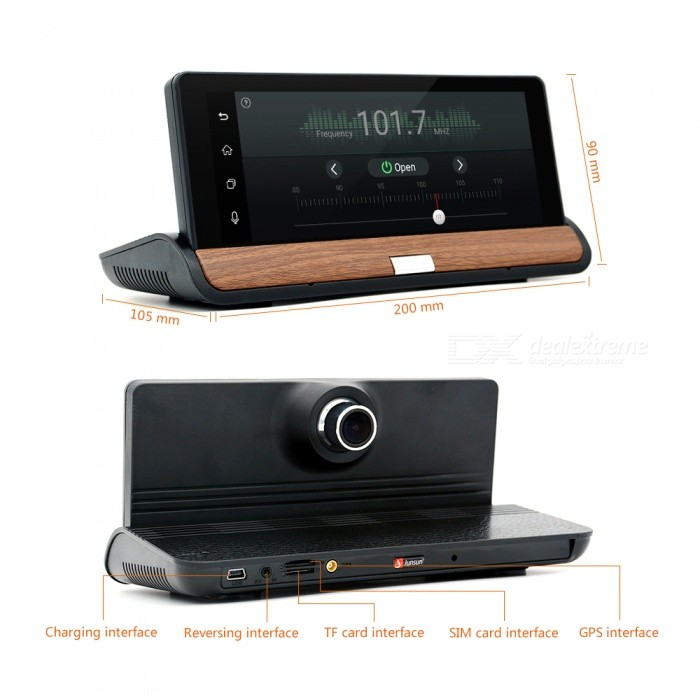 junsun cm84 3g bluetooth dual lens car gps video recorder br ar map free shipping dealextreme. Black Bedroom Furniture Sets. Home Design Ideas