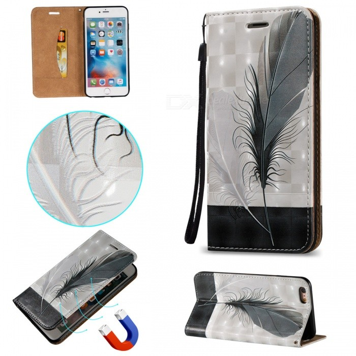 "BLCR 3D Embossed Feathers Pattern Magnetic Case for 5.5"" IPHONE 6 Plus"