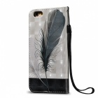BLCR 3D Embossed Feathers Pattern Magnetic PU Case for IPHONE 6 / 6S