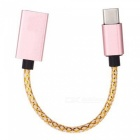 Type-C to USB3.0 Adpater Cable for Android Phone / Tablet - Rose Gold