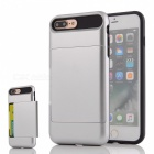 Protective PC + TPU Back Case w/ Card Slot for IPHONE 7 PLUS - Silver