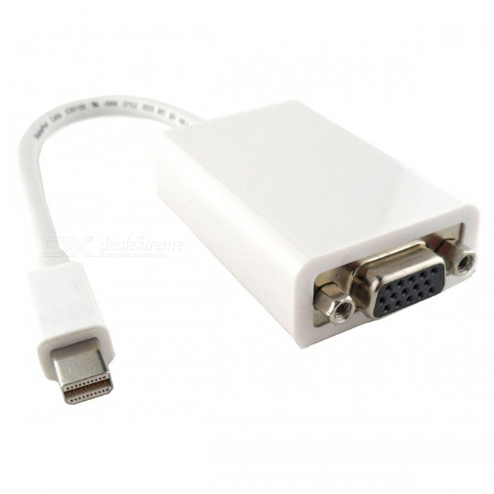 CY DP-008 Mini DisplayPort Male to VGA Female Adapter Cable - WhiteLaptop/Tablet Cable&amp;Adapters<br>Form  ColorWhiteModelDP-008Quantity1 DX.PCM.Model.AttributeModel.UnitShade Of ColorWhiteMaterialPVCInterfaceOthers,-Packing List1 * Adapter cable<br>