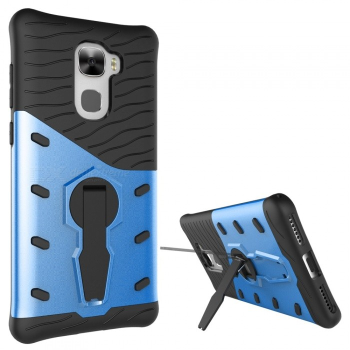 e4cd986e11c Protective TPU + PC Back Case w/ Stand for Letv Pro 3 - Blue + Black - Free  Shipping - DealExtreme