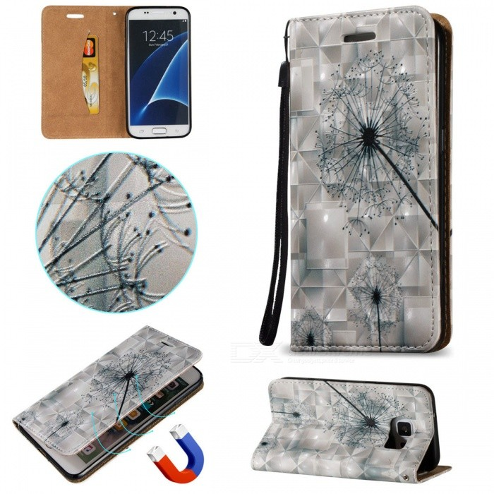 BLCR 3D Embossed Dandelion Pattern Magnetic Case for Samsung Galaxy S7Leather Cases<br>Form  ColorWhite + MulticolorModelN/AMaterialPU + TPUQuantity1 DX.PCM.Model.AttributeModel.UnitShade Of ColorWhiteCompatible ModelsSamsung Galaxy S7FeaturesAnti-slip,Dust-proof,Shock-proof,Abrasion resistance,Easy-to-remove,Holder functionPacking List1 * Case1 * Strap<br>