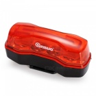 ANSUO Waterproof Highlight 4-LED 2-Mode Bike Warning Taillight - Red