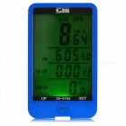 SUNDING 576A LCD Wired Bike Computer / Speedometer - Blue
