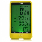SUNDING SD-576C Wireless Electronic Bicycle Computer - Yellow