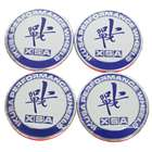Wheel Center Cap Sticker - Blue + White (4-Piece Pack)