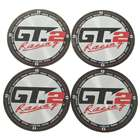 Wheel Center Cap Sticker - Silver + Black (4-Piece Pack)