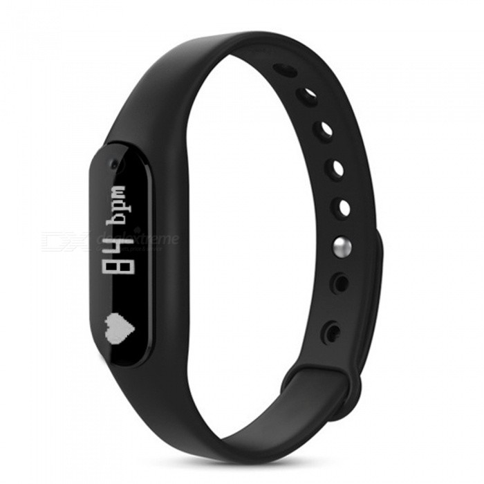 Eastor C6 Bluetooth 4.0 Smart Bracelet w/ Heart Rate Monitor - BlackSmart Bracelets<br>Form  ColorBlackModelC6Quantity1 DX.PCM.Model.AttributeModel.UnitMaterialPlastic + TPUShade Of ColorBlackWater-proofIP65Bluetooth VersionBluetooth V4.0Touch Screen TypeOthers,OLEDCompatible OSBluetooth 4.0, IOS7 version above or Android 4.4 version aboveBattery Capacity45 DX.PCM.Model.AttributeModel.UnitBattery TypeLi-ion batteryStandby Time10 DX.PCM.Model.AttributeModel.UnitPacking List1 x Smart Band1 x Charging Cable1 x English Manual<br>