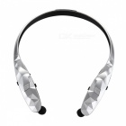 Bluetooth 4.1 Stereo Retractable APTX Sports Headphone - Silver +Black