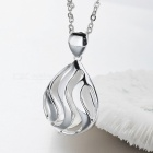 SA SILVERAGE 925 Sterling Silver Long Necklace w/ Pendant for Women