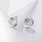 SA SILVERAGE Real 925 Sterling Silver Rose Stud Earrings Fine Jewelry for Women