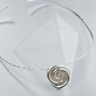 SILVERAGE Sterling Silver Romantic Rose Pendant Collar Necklace