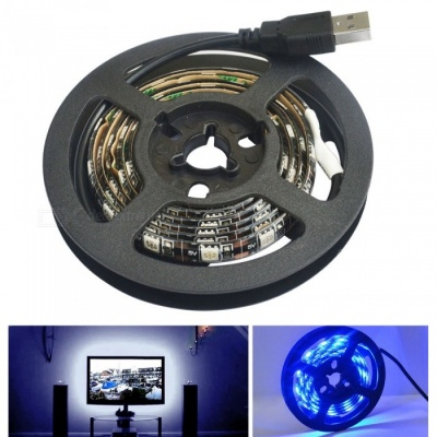 JIAWEN Waterproof 60-5050SMD Blue Light LED Strip Lights (1m)