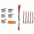 H36-0002 3.7V 150mAh Batteries + USB Charger + Charging Cable Set