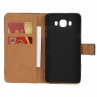 Protective Flip-Open Leather Case for Samsung GALAXY J7 - Black