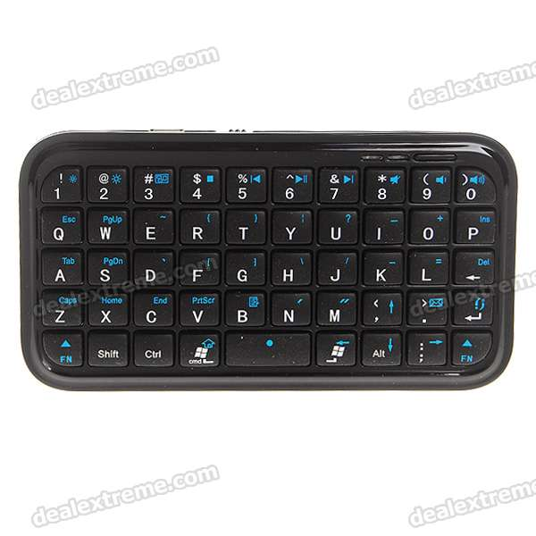 49-Key Mini Rechargeable Bluetooth Wireless QWERTY Keyboard for Android/Windows/Symbian/iPhone