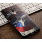 3D HD Three Dimensional Embossed Case for Huawei Mate 9 - Black + Red
