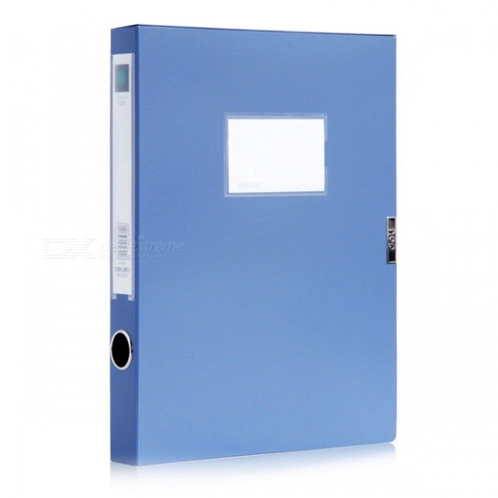 Plastic PP Archive File Data Storage Box Office Stationery - Blue