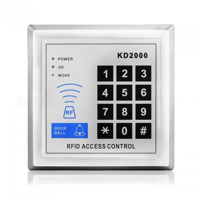 XSC KD2000 RFID Door Access Control System - SilverOther Security Products<br>Form  ColorSilverModelKD2000MaterialABSQuantity1 DX.PCM.Model.AttributeModel.UnitPower AdapterOthers,N/APacking List1 x KD2000 door machine1 x English user manual<br>