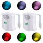 YWXLight 8-Color Motion Sensor Toilet Night Lights (2 PCS)