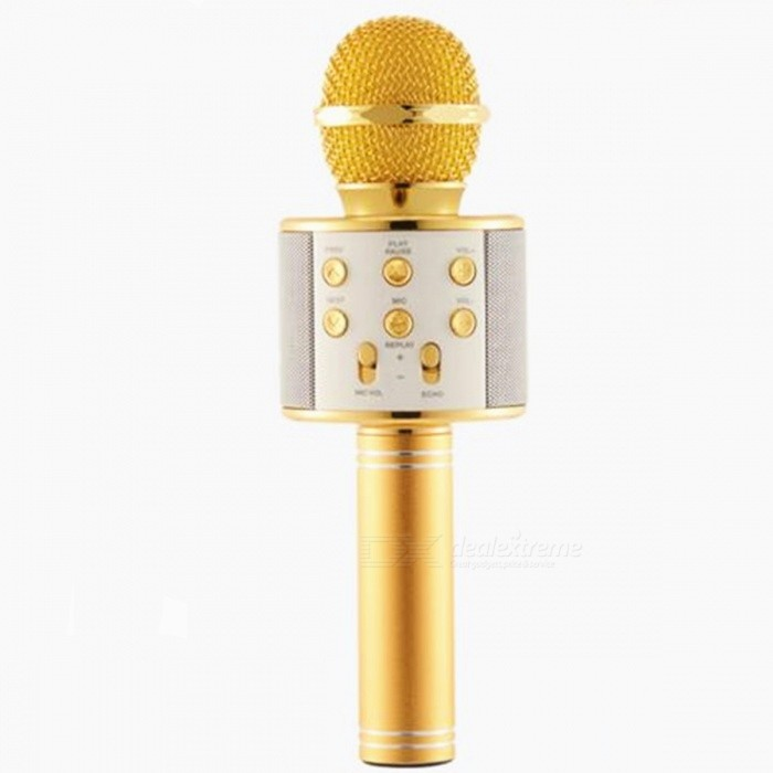 WS-858 microphone sans fil Bluetooth KIFI - Golden