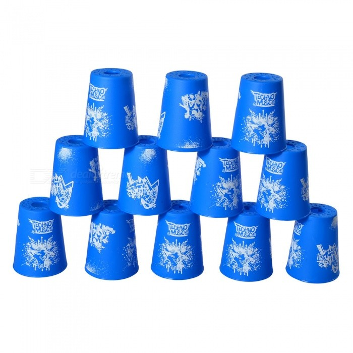 YJ Sport Stacking Speed Stack Cups Toy Set - Blue (12 PCS)