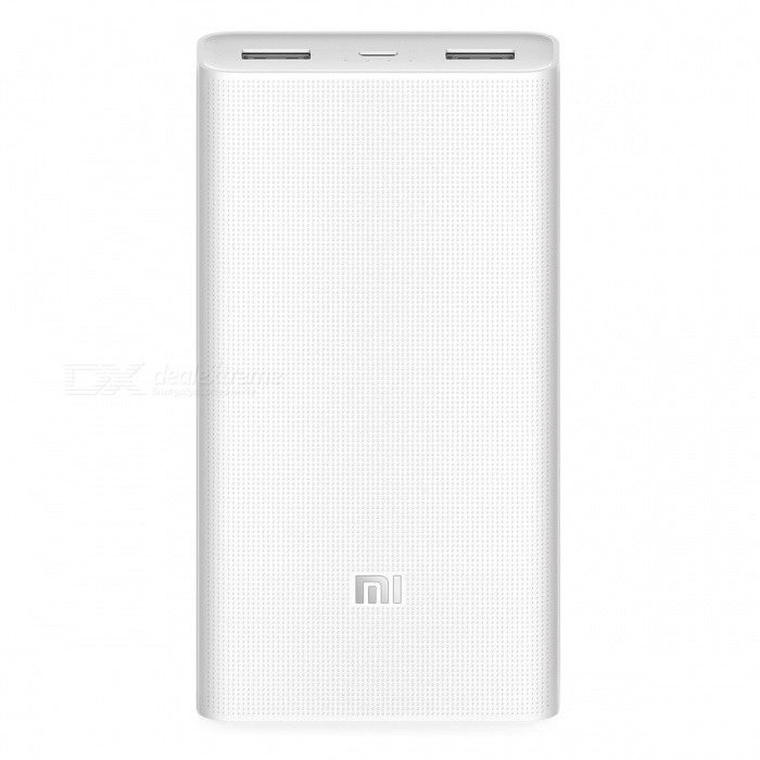 Xiaomi 2 20000mAh Mobile Power Bank w/ Dual USB Ports - White