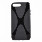 """X"" Style TPU Flexible Back Case for IPHONE 7 PLUS - Black"